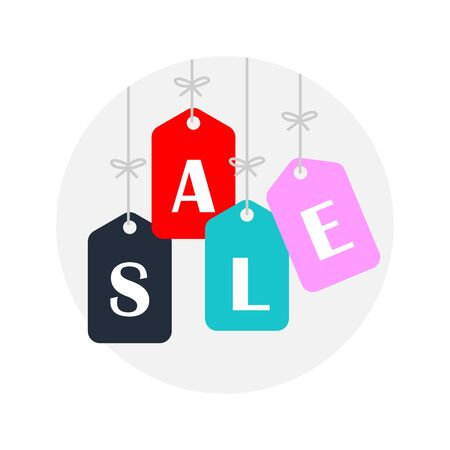 flat icons for price tag,sale,vector illustrations Ilustracja