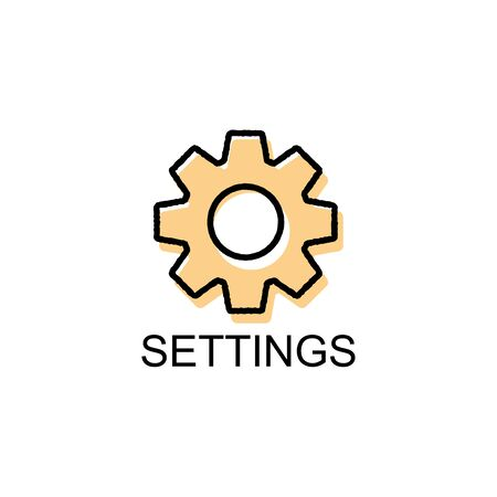 flat icons for settings,vector illustrations