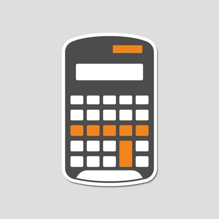 flat icons for calculator,business,sticker,vector illustration
