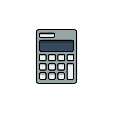 flat icons for calculator,vector illustrations