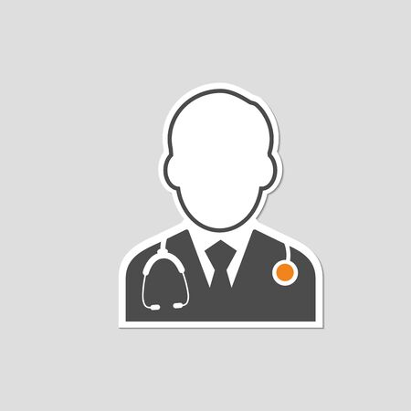 flat icons for Doctor,Sticker,vector illustrations 矢量图像