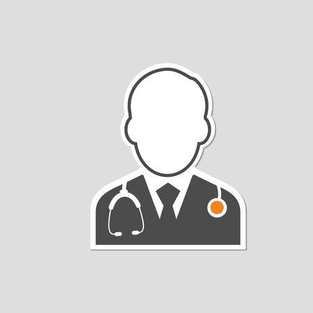 flat icons for Doctor,Sticker,vector illustrations Illustration