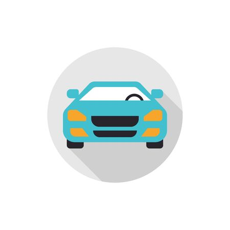flat icons for blue car front,vector illustrations Ilustracja