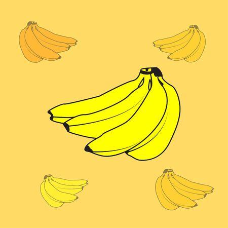 flat icons for banana,fruit,vector illustrations Ilustração