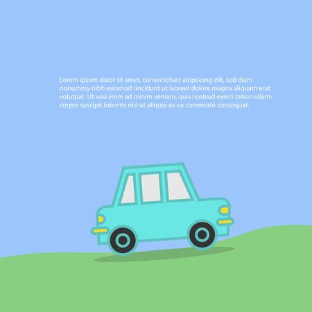 Background of car and mountain,vector illustrations
