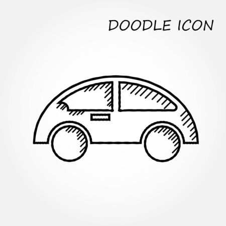 car icons doodle style,vector illustrations