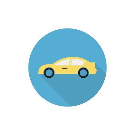 car side view flat icon,vector illustrations