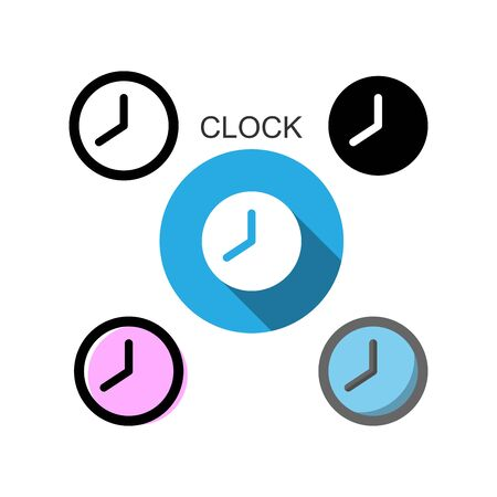 flat icons,line icons,solid icons for clock,vector illustrations Zdjęcie Seryjne - 149342759