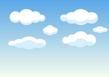 abstract background of cloud in blue sky,vector illustrations