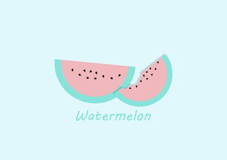 Cute background of watermelon,fruit,vector illustrations
