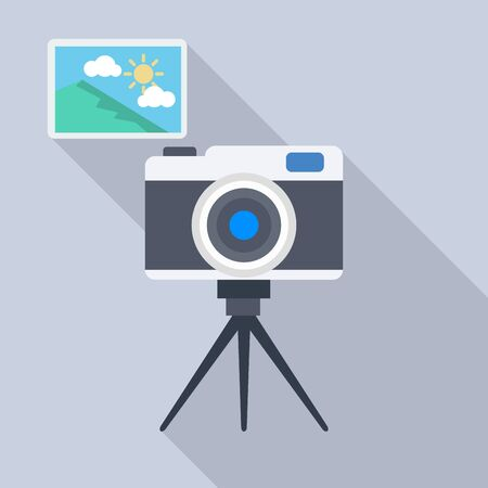 flat icons for camera and picture,vector illustrations