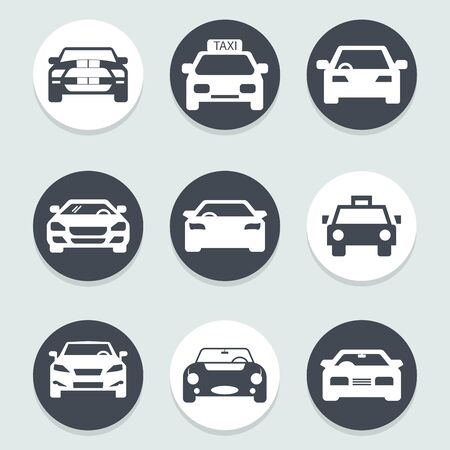 flat icons for car front,vector illustrations Ilustracja