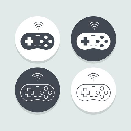 flat icons for Game controller,vector illustrations Ilustracja