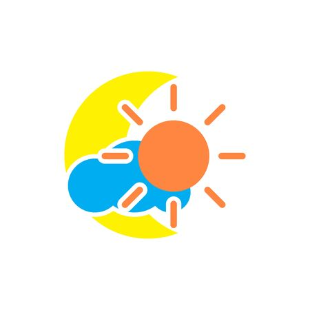 flat icons for moon,sun,cloud,vector illustrations