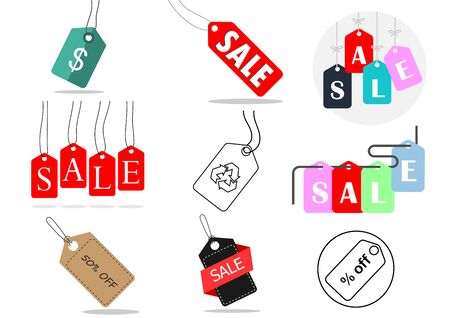 flat icons for Price tag,vector illustrations