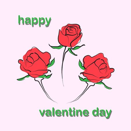 Background of Rose flower in valentine day,vector illustrations