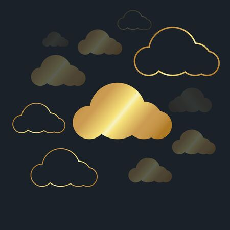 abstract background for cloud,Gold color,vector illustrations