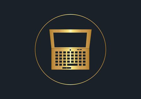 abstract background for computer,Gold color,vector illustrations Ilustracja