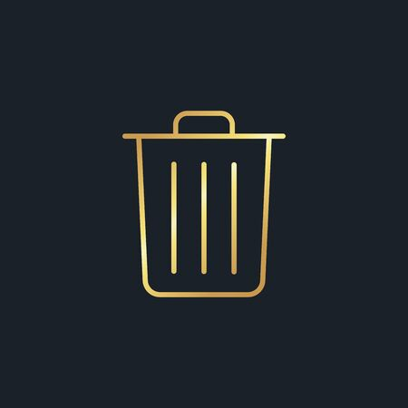 abstract background for Garbage,gold color,vector illustrations Ilustracja