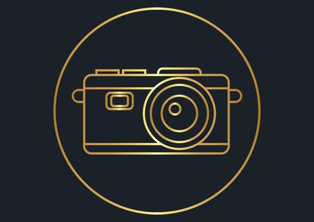 abstract background for gold camera,vector illustrations Ilustracja