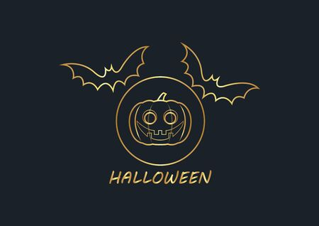abstract background for Gold Halloween,bat,vector illustrations