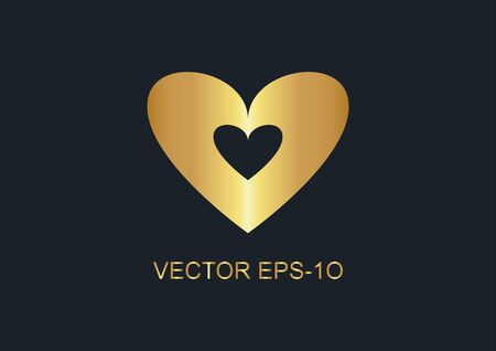 abstract background for gold heart, vector illustrations