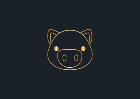 abstract background for gold pig,vector illustrations Ilustracja