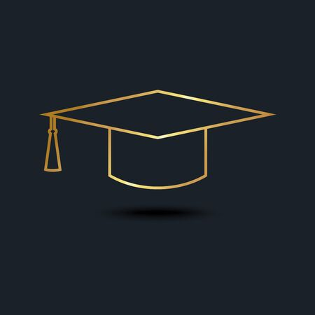 abstract background for Graduation cap,Gold color,vector illustrations
