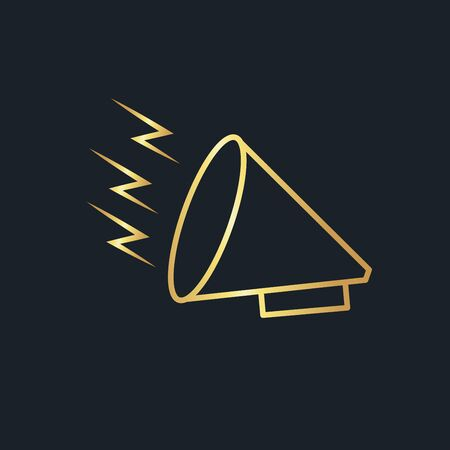 abstract background for Megaphone,logo,gold color,vector illustrations