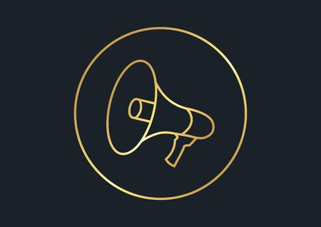 abstract background for Megaphone,gold color,vector illustrations