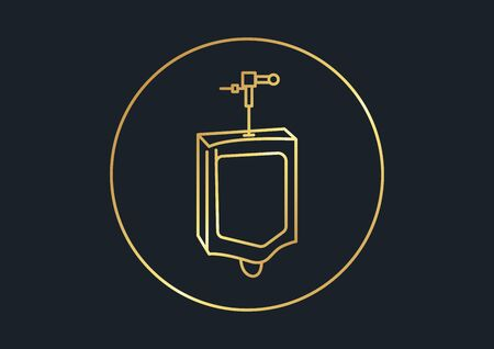 abstract background for Urinal,gold color,vector illustrations Ilustracja