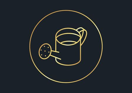 abstract background for Watering can,gold color,vector illustrations