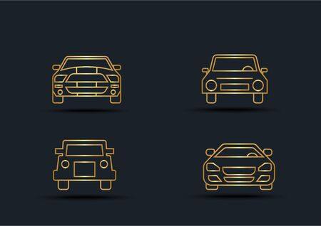 Abstract background of Car front sets,transportation,Gold color,vector illustrations Ilustracja