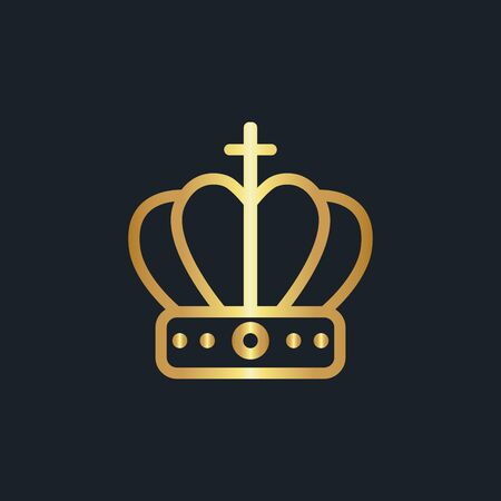 flat icons for Crown,Gold color,vector illustrations