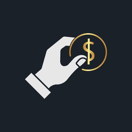 flat icons for payment,money,coin,gold color,vector illustrations