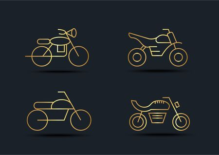 Abstract background of Motorcycle sets, Gold color, vector illustration