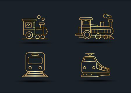Abstract background of Train sets,transportation,Gold color,vector illustrations