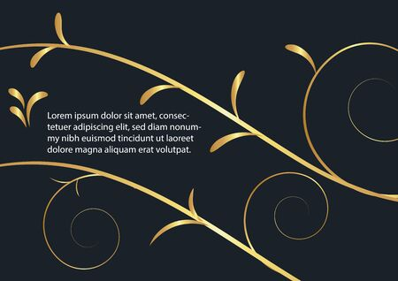 abstract background flower,Gold color,vector illustrations