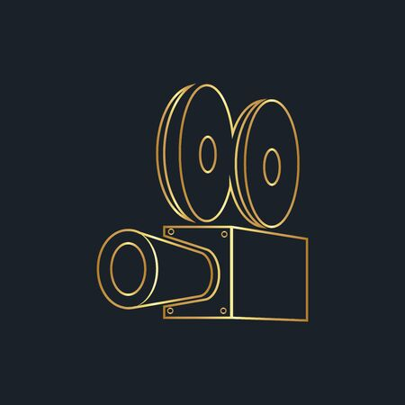 abstract background for camera, Gold color, vector illustrations