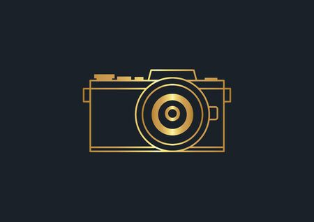 abstract background for camera,Gold color,vector illustrations