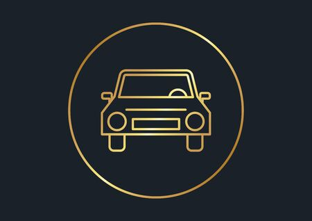 abstract background for car front,Gold color,vector illustrations