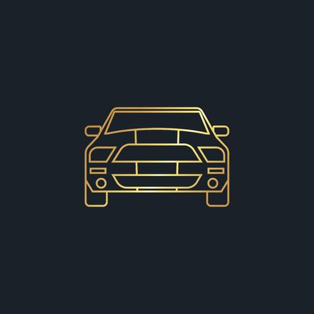 abstract background for car front,gold color,vector illustrations Ilustracja