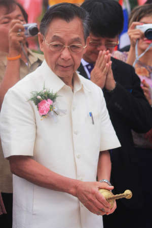 former years: Nakorn Sri Thammarat,Thailand,May 5,2012:Chuan Leekpai,former minister of Thailand,presided over the groundbreaking ceremony for the building after 96 years Thung Song Hospital.