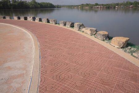 riverfront: Riverfront walkway