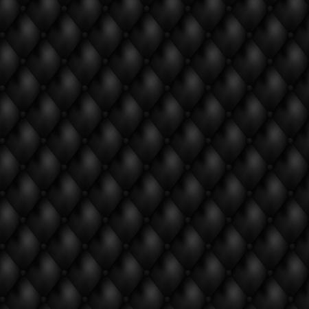 leather chair: Sfondo di lusso in pelle nera senza saldatura Vettoriali