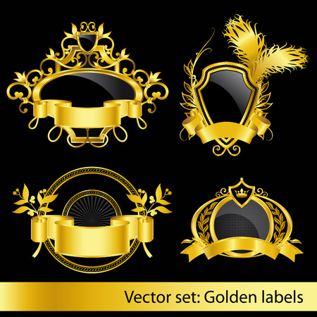 set of the golden vintage labels