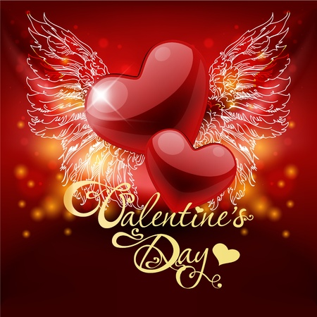 valentine's day card with hearts Stock Vector - 12026705