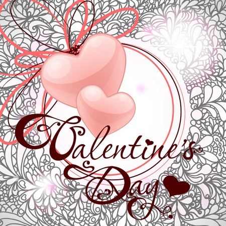 valentine's day card with hearts Stock Vector - 12026706
