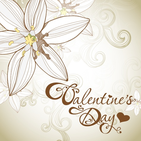tarjeta del día de San Valentín con Lilly