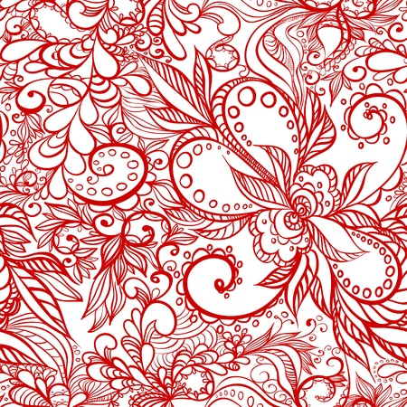beautiful seamless pattern with swirls Vector